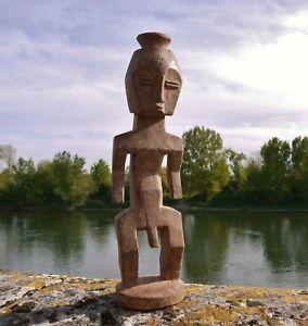 RARE STATUE ANCIENNE FETICHE BOIS AFRICAIN METOKO LENGOLA CONGO ANTIQUE AFRICAN