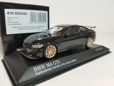 1:43 Minichamps BMW M4 GTS Coupe F82 2016 Twin Turbo I6 Black w/Orange Wheels LE