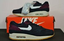 Nike Air Max 1 Crepe Dark Obsidian Cobalt Ocean Bliss Men's 7 Shoes Sneakers NEW