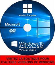 2 DVD Windows 10 Home & Pro 32 et 64 bits français Restauration réinstallation ✅
