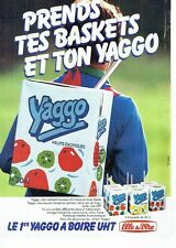 Publicite ADVERTISING 0217 1985 elle & vire yaggo yoghurt drink