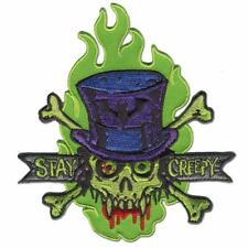 STAY CREEPY PATCH EMBROIDERED SEW ON / IRON ON PATCH BY RETRO-A-GO-GO
