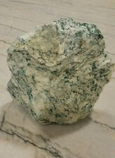 Beautiful Green and White Crystal Rock Specimen - Unknown