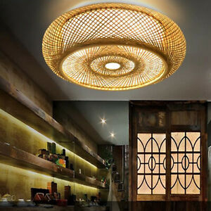 Nordic Style Handcraft Ceiling Light Lamp Shade Home Rattan Lampshade Shades