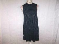 Derek Heart Tunic Sweater Swing Dress Large Juniors Sleeveless Stretchy Striped