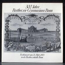 300 Jahre Beethoven-Gymnasium Bonn Bach Magnificat Hans Heinemann 73 LP & CV EX+