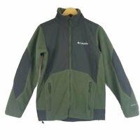 Columbia Mens Omni-Shield Jacket Sweater Green Softshell Long Sleeves Sz S