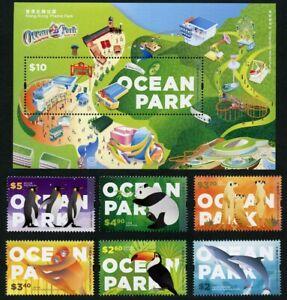 Hongkong 2020 Ocean Park Freizeitpark Tiere Pinguine Panda Delphine Tukan MNH