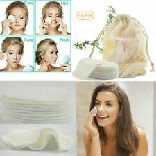 12PcsPcs Bamboo Reusable Makeup Remover Pads Washable Facial Cotton Pads-