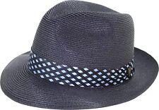 f070e411 7 1/4 Dobbs Navy Floyd Straw Hat Fedora