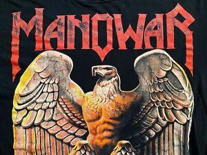MANOWAR . original TOUR SHIRT Metal VINTAGE ! Iron Maiden Slayer Metallica Sodom