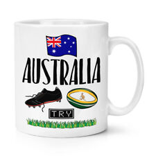 Rugby Australia 10oz Mug Cup - Funny League Union Flag Sport