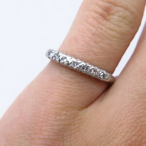 Antique 900 Platinum Approx. 0.28ct G VS2 Single Cut Diamond Ring Size 5.5
