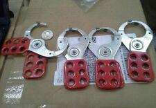 American lock 6 lock Machine lockouts  (lot of 4)