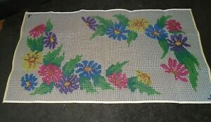"""Mary Maxim Vintage 27"""" x 54"""" PAINTED DAISIES Rug Hooking Kit - NEW"""