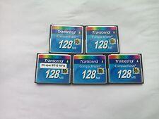 5PCS  Transcend 128mb  80X Compact Flash CF Memory Card