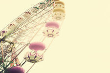 SUPERB RETRO VINTAGE FERRIS WHEEL CANVAS #471 QUALITY FRAMED WALL ART PICTURE