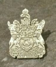 NEW BRUNSWICK ☆ Spem Reduxit - Metal ☆ PEWTER - Pin Badge ☆ Coat of Arms -