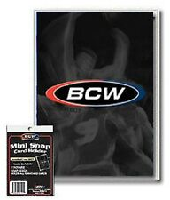 (100 Pack) BCW Mini Snap Tite Card Holders Stackable Standard Size Archival Safe