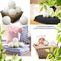 Wool Dryer Balls  6-Pack XL  Premium Reusable Natural Fabric Softener Eco Safe
