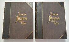 PICTURESQUE PALESTINE SINAI AND EGYPT 1881 1st Edition Two Volumes Engravings