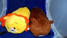 """Bun Bun Stacking Lot of 2 Plush Stuffed 7"""" Lion & Bear Bon Bon"""