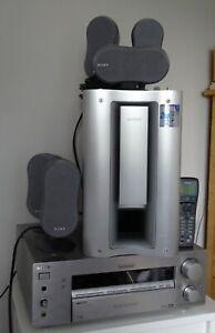 Sony Home Cinema System 5.1 Speakers Subwoofer & Sony FM-AM STR-DB940 Receiver