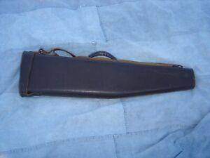 "Vintage Take down Rifle Shotgun Leather  Case inside long 33.5"""