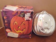 Wilton Pumpkin Cake Pan 3D standing Stand Up Jack O Lantern with Box 1995 VTG