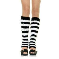 Leg Avenue Fuzzy Stripes Leg Warmers