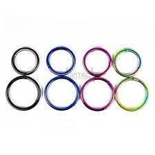 16G Titanium Hinged Segment Hoop for Nose, Septum, Ear, Nipple, Lip and Tragus