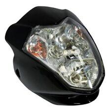 Faros delanteros color principal negro para motos Yamaha
