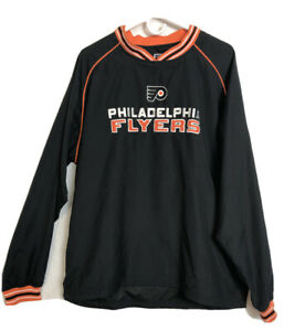 Face Off Apparel CCM Hockey Mens Windbreaker Pullover Philadelphia Flyers Size M