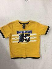 OshKosh B'gosh - Boys' Short Sleeve Cotton T-Shirt - Yellow - Football - 3T  EUC