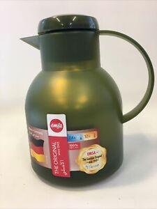 Emsa Samba Insulated Vacuum Jug Olive Green 1L New