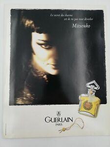 Guerlain - Publicité de presse parfum Mitsouko