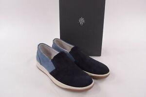 Eleventy NWB Casual Shoes Espadrilles In Blue & Light Blue Suede 43 10 D US $395