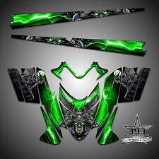 Polaris IQ RMK Shift Dragon Graphics Decal Wrap 05-12 with Tunnel Guardian Green