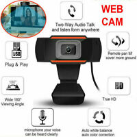 HD Webcam Microphone Desktop Webcam USB Computer Web Camera for Working Study US