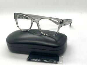 NEW Authentic Coach Eyeglasses HC 6126 5172 GREY TRANSPARENT  52-18-140MM /CASE