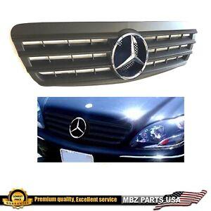 2000 2001 2002 S-class matte black grille star AMG s500 s430 s55 emblem chrome