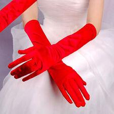 Women Lady Satin Long Gloves Opera Wedding Bridal Evening Party Costume Gloves