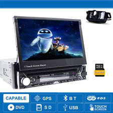 "7"" Single 1din Car DVD Player GPS Sat Nav AutoRadio RDS Audio Stereo USB+Camera"
