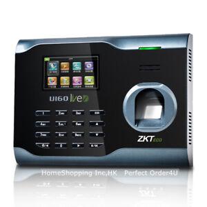 ZKteco Fingerprint Time Attendance Fingerprint Time Clock WiFi TCP/IP Menu U160