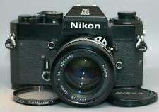 Nikon Black EL-2 35mm film camera with 50mm f1.4 Nikkor Ai lens EL2 - Nice Ex++!