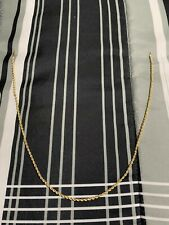 14k 2.5mm 18inch Gold Rope Chain/ Weight 3.0 Grams