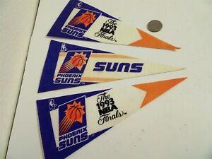 3 Vintage Phoenix Suns 1993 NBA Finals Pennants Flags