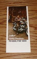 Original 1974 Harley Davidson FX-1200 FXE-1200 Foldout Sales Brochure 74