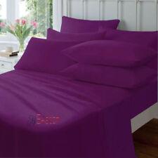 Draps-housses violets contemporains pour le lit