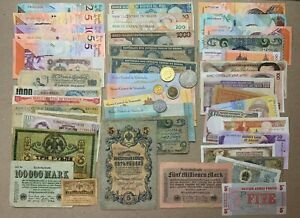 50 pcs Mix Banknote Set Romanov Currency Lot Mexican Coin Money Note Bill WWII
